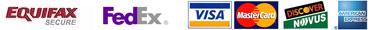 FedEx - Equifax - Mastercard - Visa - Discover - AmEx