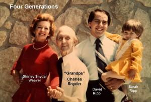 Shirley Snyder Weaver, Charles Snyder, David Ripp, Sarah Ripp
